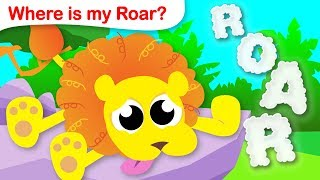 Where is my Roar? | Help The Lion King Find his Roar! | Learn to count with Little Angel