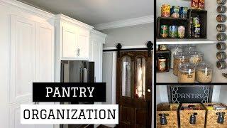PANTRY ORGANIZATION IDEAS | FARMHOUSE PANTRY TOUR