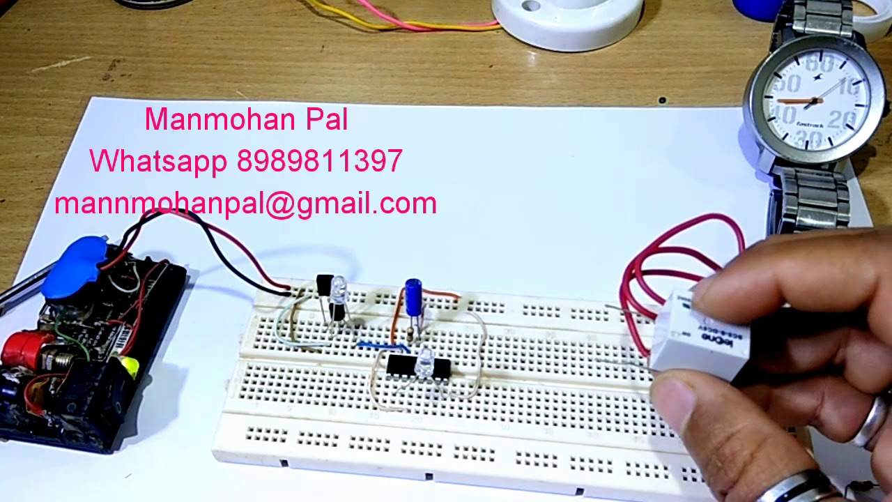 Remote Control Relay Switch Home Automation Simple Ir Circuit By Manmohan Pal