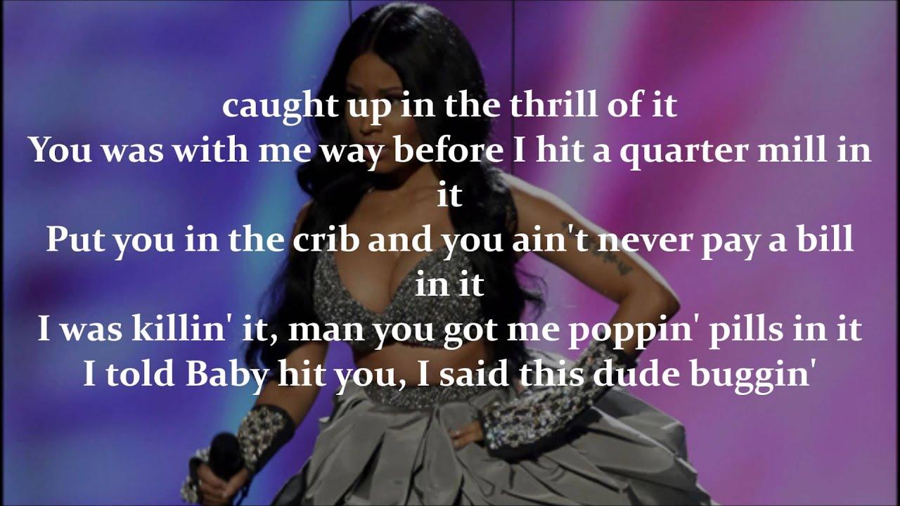 Nicki Minaj Bed Lies ft Skylar Grey ficial Lyrics Video