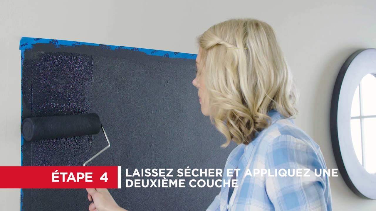 comment faire un mur en tableau noir 6 tapes youtube. Black Bedroom Furniture Sets. Home Design Ideas