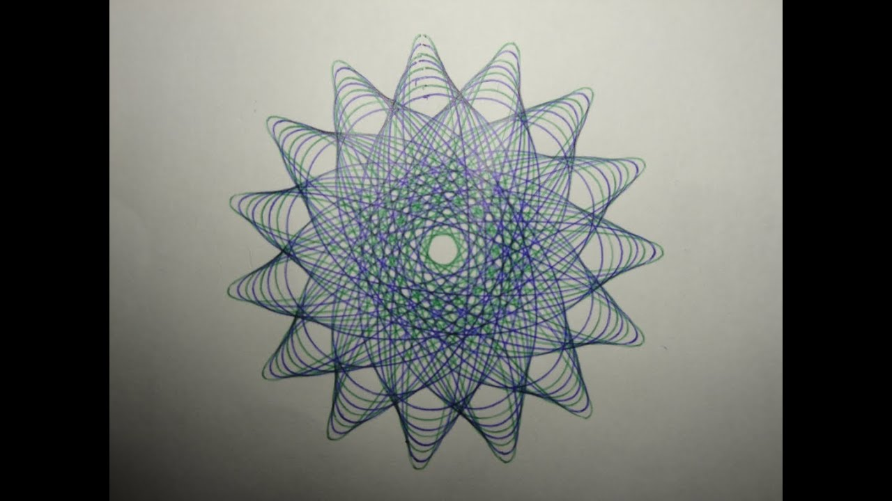 Make Art Design : Making of a spirograph designs youtube