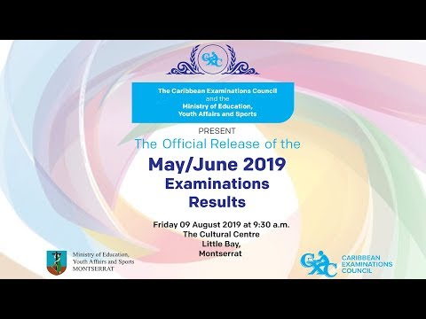 2019 Official Release Of CXC Results