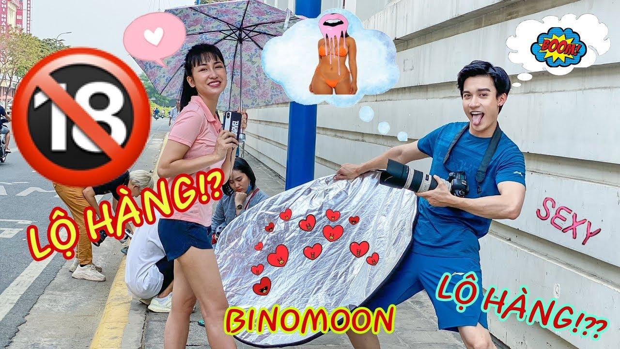 [18+] Trang Moon Dũng Bino LỘ HÀNG ầm ầm trong buổi chụp quảng cáo   Cư dân mạng tha hồ bổ mắt