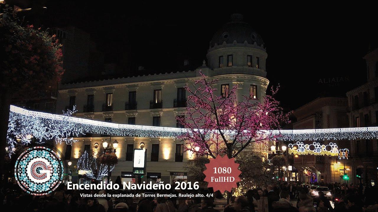 Granada centro encendido luces de navidad 2016 puerta real ayto plaza bibrrambla youtube - Parking plaza puerta real en granada ...