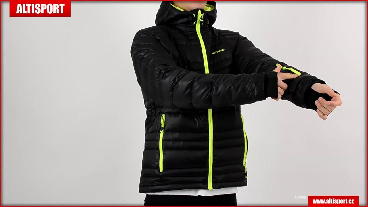 a86a3f6e8f5 pánská zimní bunda alpine pro iskut černá - YouTube
