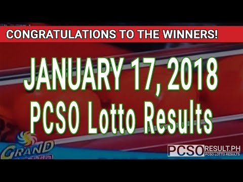 PCSO Lotto Results Today January 17, 2018 (6/55, 6/45, 4D, Swertres, STL & EZ2)