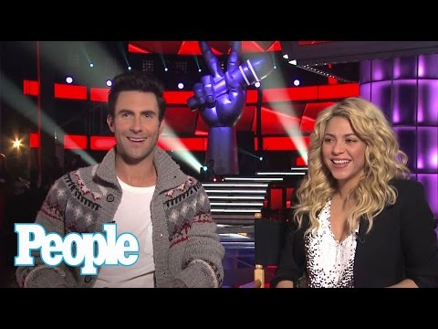 "Adam Levine & Shakira Talk ""The Voice"" 