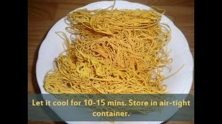 How to make Sev for bhelpuri / sevpuri