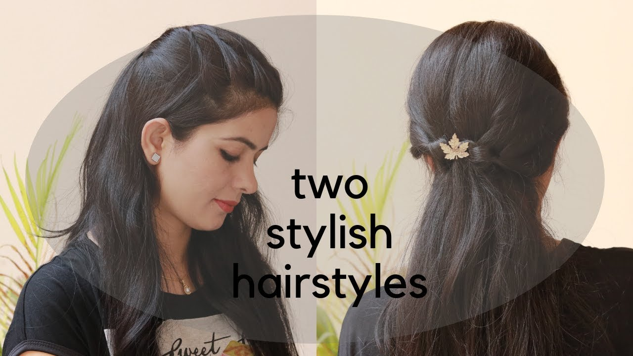 2 Easy Hairstyles For Jeans And Top ज न स क स थ