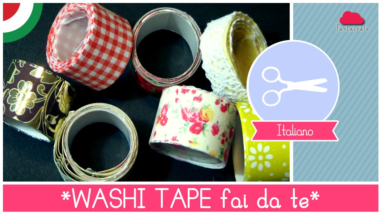 Tutorial come fare il washi tape nastro adesivo decorato - Recinto fai da te ...