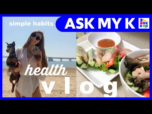 Ask My K : Adrienne Hill - HEALTH VLOG korean grocery store, healthy habits + daily recipes