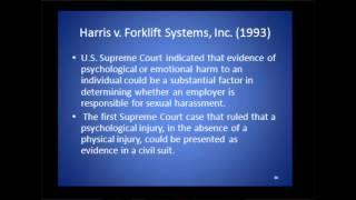 Harris v. Forklift Systems, Inc. (1993)