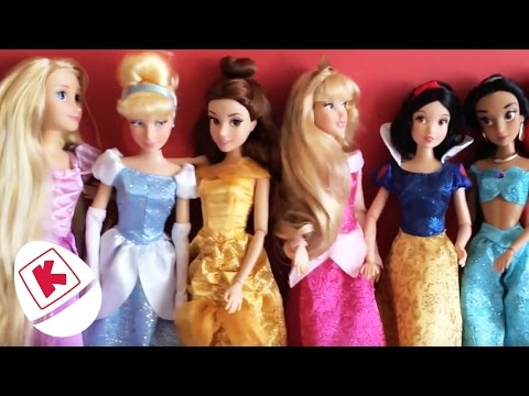 Princess Unboxing: Rapunzel, Belle & More - Princesses In Real Life | WildBrain Kiddyzuzaa