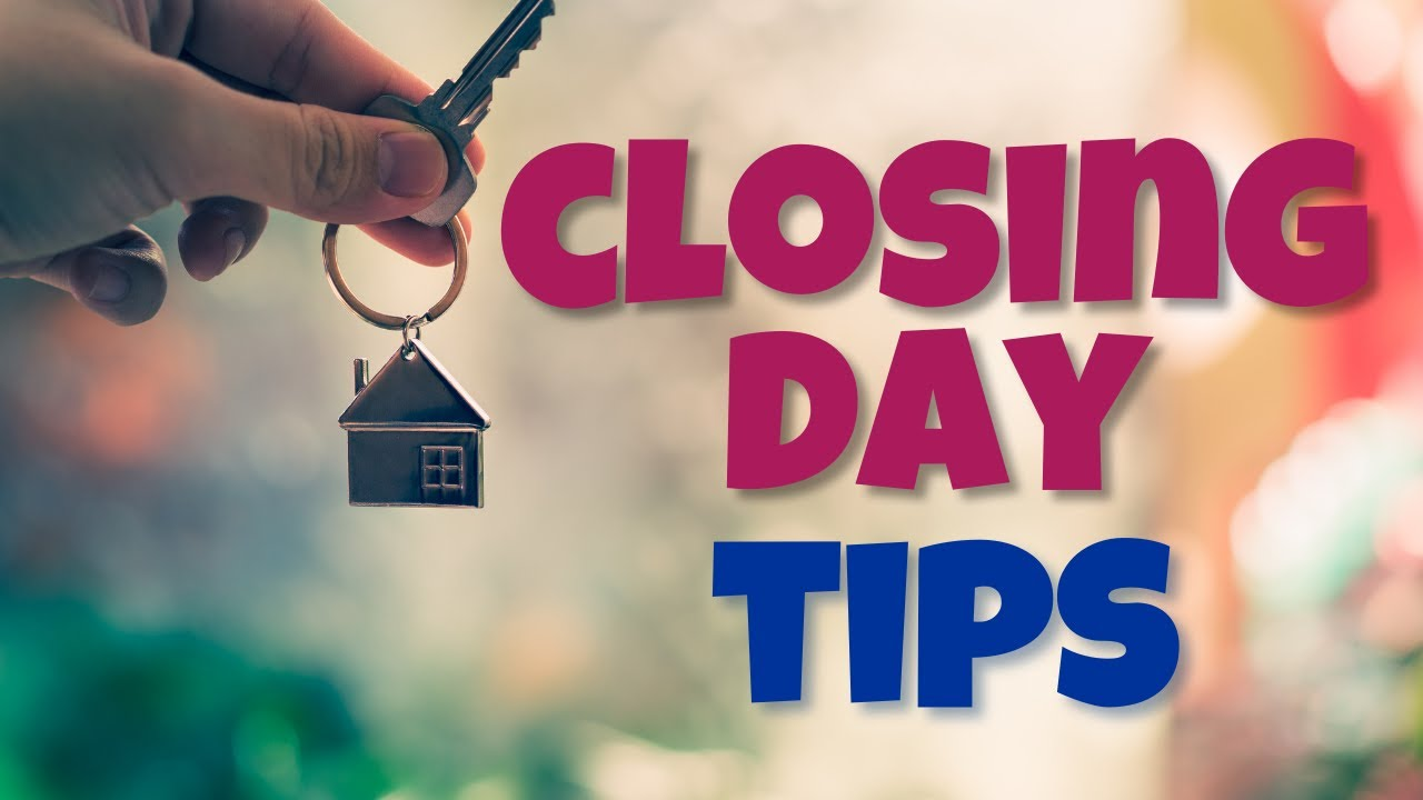 Closing Day TIPS 🍾
