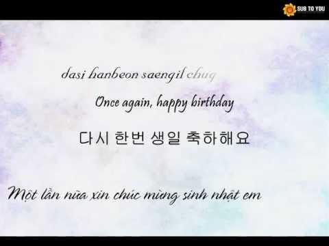 [Vietsub + Kara] NU'EST - 생일 축하해요 (Happy Birthday)