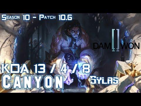 DWG Canyon SYLAS Vs ZAC Jungle - Patch 10.6 KR Ranked