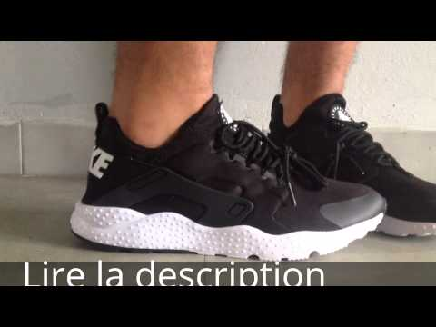 Nike Air Huarache Run Ultra Gs chaussures noir rose