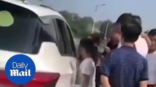 Boy drives an SUV to take his sister to find their father