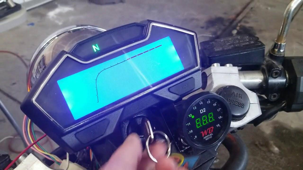 samdo universal motorcycle speedometer odometer wiring - youtube  youtube