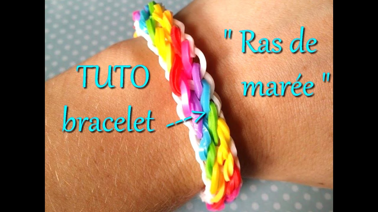 tuto bracelet lastique raz de mar e rainbow loom youtube. Black Bedroom Furniture Sets. Home Design Ideas