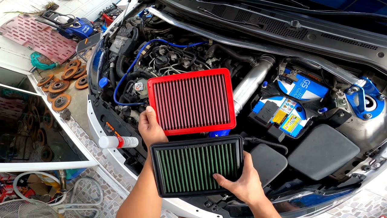 พาชม กรองอากาศ BMC ใน Mazda2 ดีเซล แรงขึ้นป่าวต้องลอง..