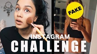 IS SOCIAL MEDIA FAKE? - INSTAGRAM CHALLENGE | TAZ TRIES