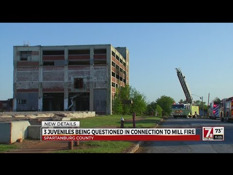 3 juveniles being questioned in connection to mill fire