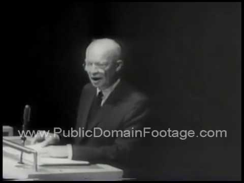 Dwight D. Eisenhower Action for Mideast Peace Speech excerpt archival stock footage