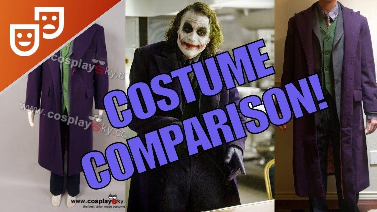 Cosplaysky Dark Knight Joker Costume Review u0026 Accuracy Comparison  sc 1 st  YouTube & Cosplaysky Dark Knight Joker Costume Review u0026 Accuracy Comparison ...