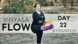 Vinyasa Flow with focus on arms, back and balance Day 22 With Fightmaster Yoga