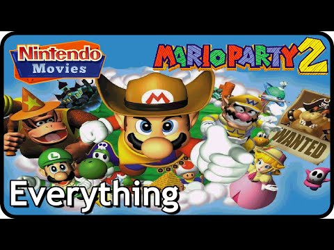Mario Party 2 - All Board Games / All Mini-Games / Stadium / Mini-Game Coaster / EVERYTHING
