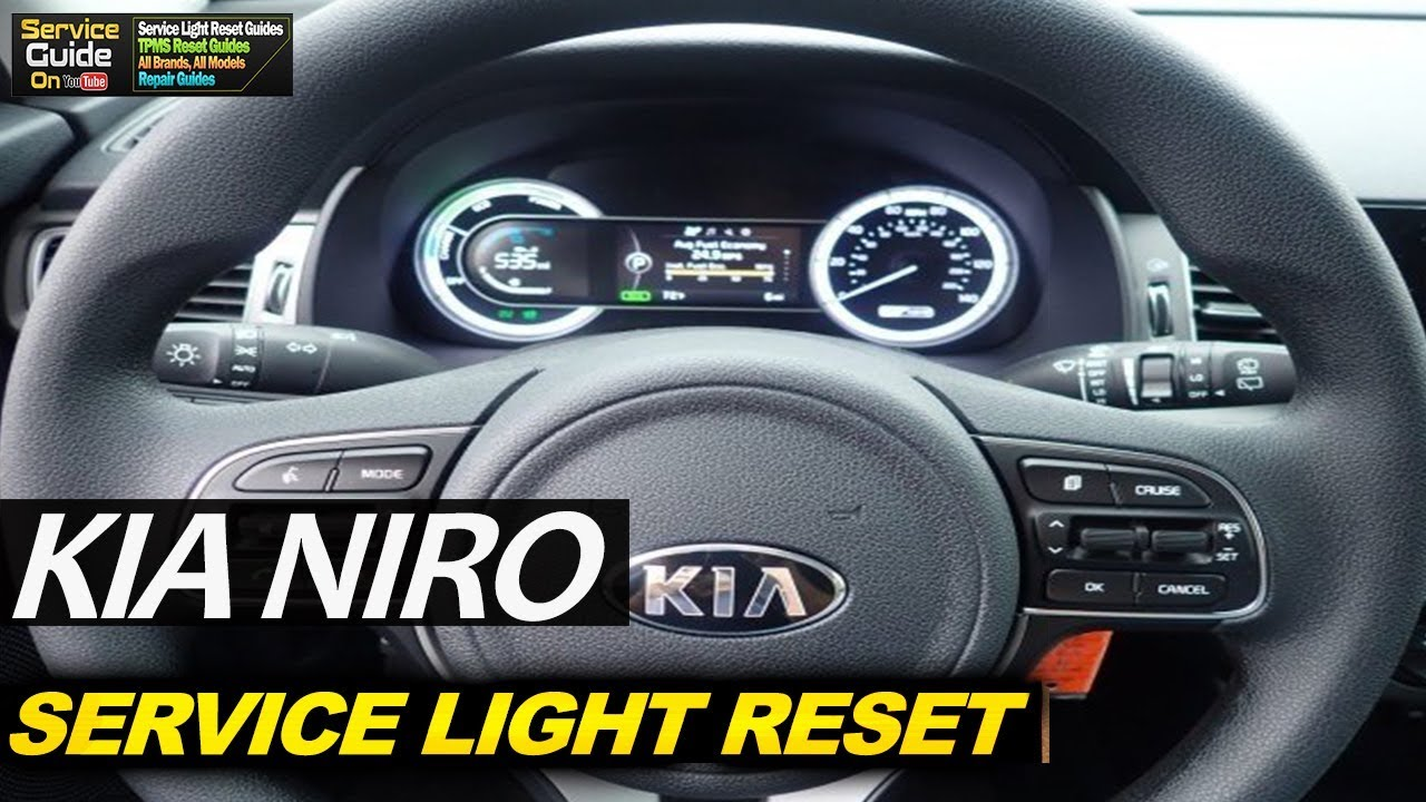 Kia Niro Service Light Reset Youtube