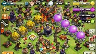 CLASH OF CLANS MAX LEVEL MINER ATTACK CLONE SPELL AND SKELETON SPELL COC PRIVATE SERVER HACK