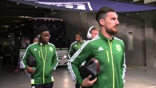 Portland Timbers arrive at BC Place, ahead of the match against Vancouver Whitecaps