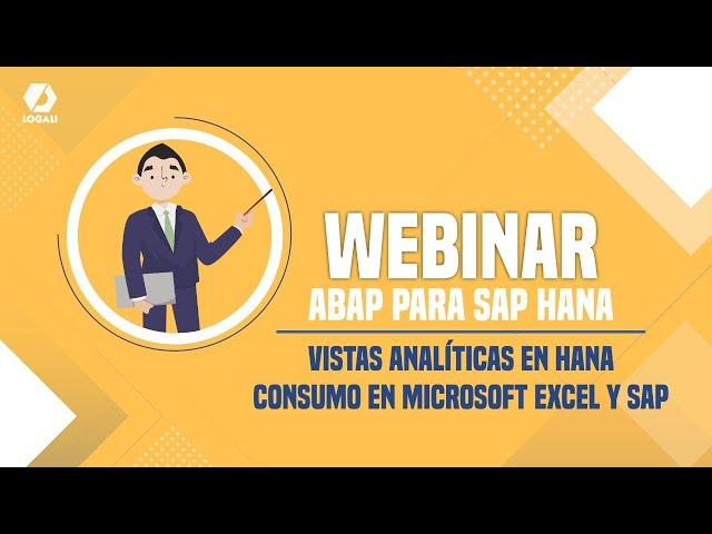 Webinar SAP ABAP para HANA - Vistas analíticas en HANA - Consumo en Microsoft Excel y SAP