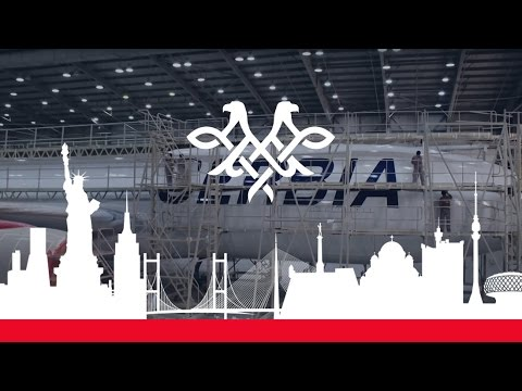 Air Serbia A330 Painting Timelapse