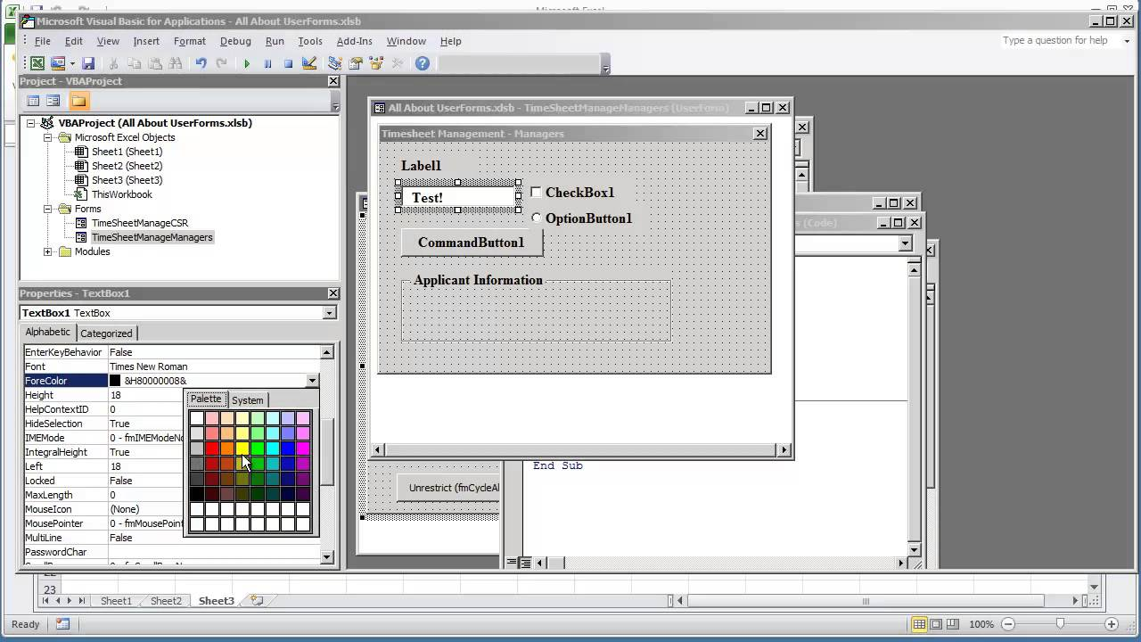 Vba Programming For Excel