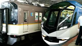 近鉄50000系SV01編成の特急しまかぜ京都行き 大和西大寺駅
