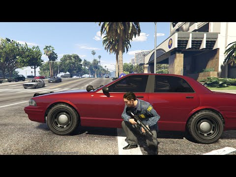 GTA 5 LSPDFR Unmarked Ep.1 - Bank Robbery! - FBI