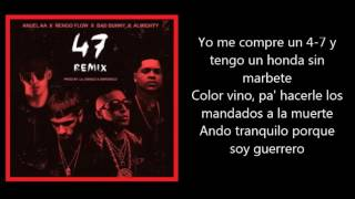 47 (Remix) - Anuel ft Ñengo Flow Almighty & Bad Bunny | El Conejo Malo (letra)