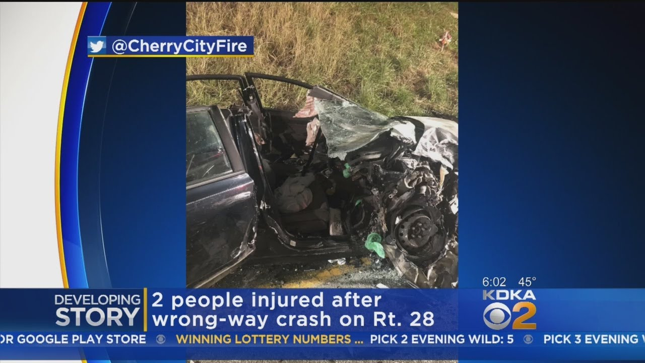 Wrong-Way Crash Shuts Down Northbound Lanes Of Route 28, 2 Injured