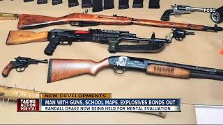 Man with guns, school maps and explosives in home bonds out