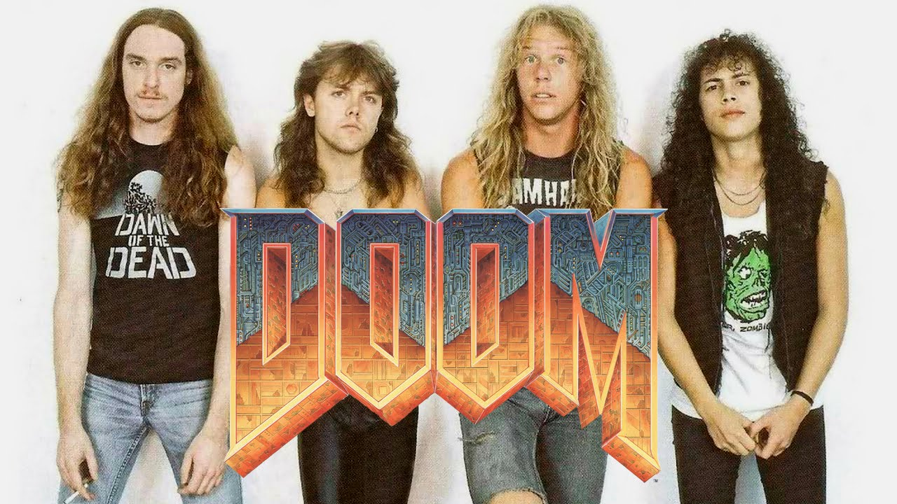The original Doom's soundtrack was inspired by Metallica, Slayer