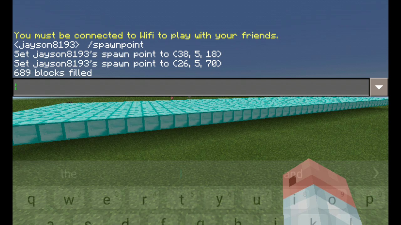 How to use fill command in minecraft pe any version YouTube