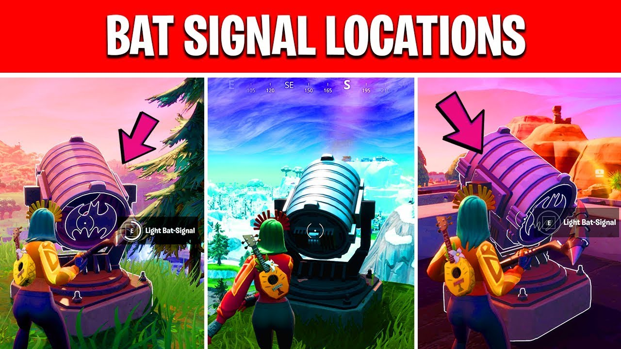 Fortnite Bat Signal Locations Map Light Up Different Bat Signals Outside Of Gotham City Fortnite Welcome To Gotham City Challenges Youtube