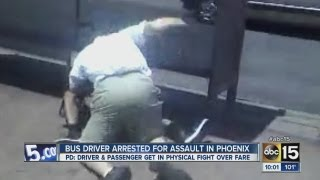 Bus driver arrested for assault in Phoenix