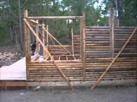 Oanyken construcci n de caba as de troncos en el partido de la costa youtube - Como hacer una cabana de madera ...