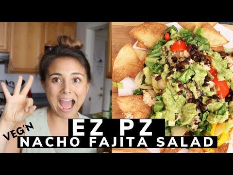 EZ PZ Meatless Meals - Fajita Nacho Salad + More Messes