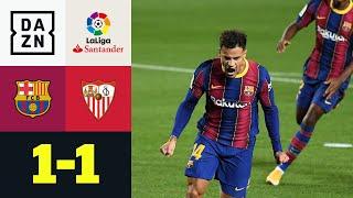 Coutinho-Tor reicht nicht gegen Euro-League-Champion: FC Barcelona - FC Sevilla 1:1 | LaLiga | DAZN